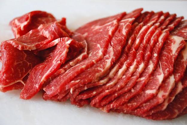 Kết quả hình ảnh cho thái thịt bò đúng cách