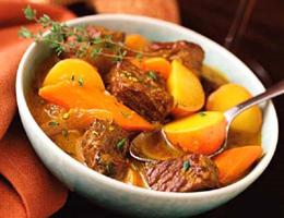 Món bò hầm khoai lang kiểu Ý