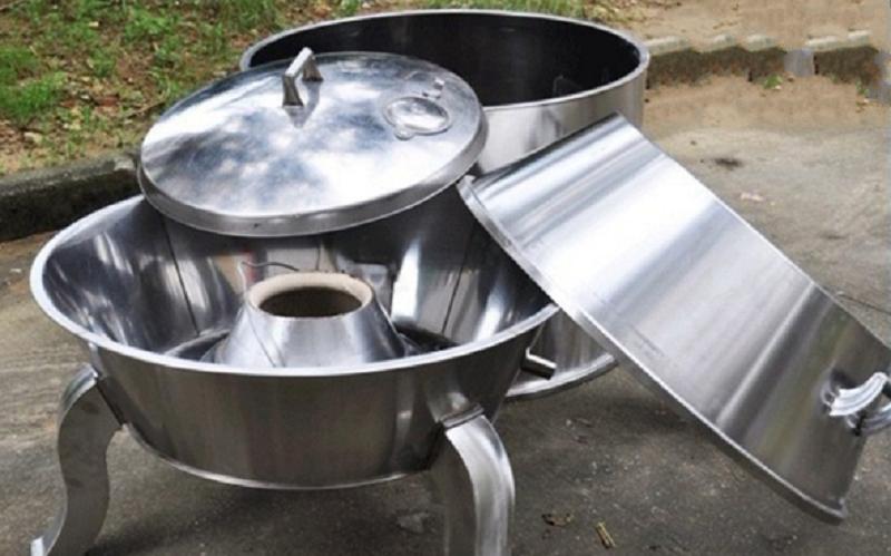 cấu tạo lu quay vịt dùng gas và than