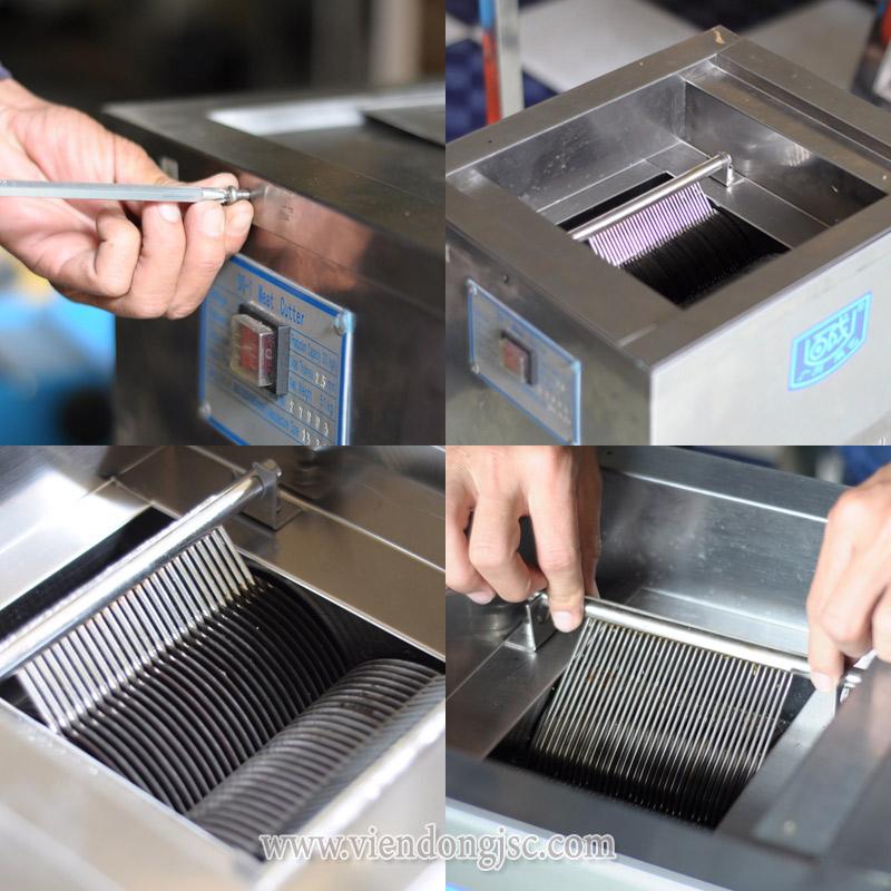 chi tiết máy thái thịt hạt lựu QX-250